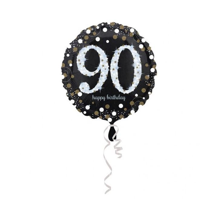 Folieballon Sparkling 90 jaar HBDay 43cm
