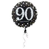 Folieballon verjaardag sparkling 90 jaar