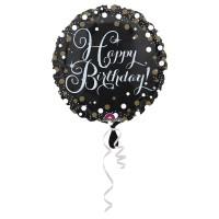 Folieballon Sparkling Happy Birthday 43cm