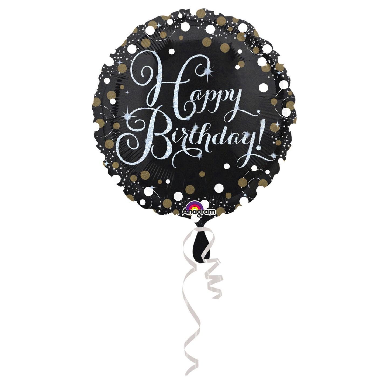 Folieballon verjaardag sparkling happy birthday
