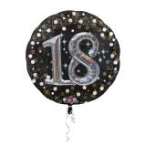 Folieballon multiballoon 3D sparkling 18 jaar