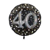 Folieballon Multi 3D 40 jaar 81x81cm