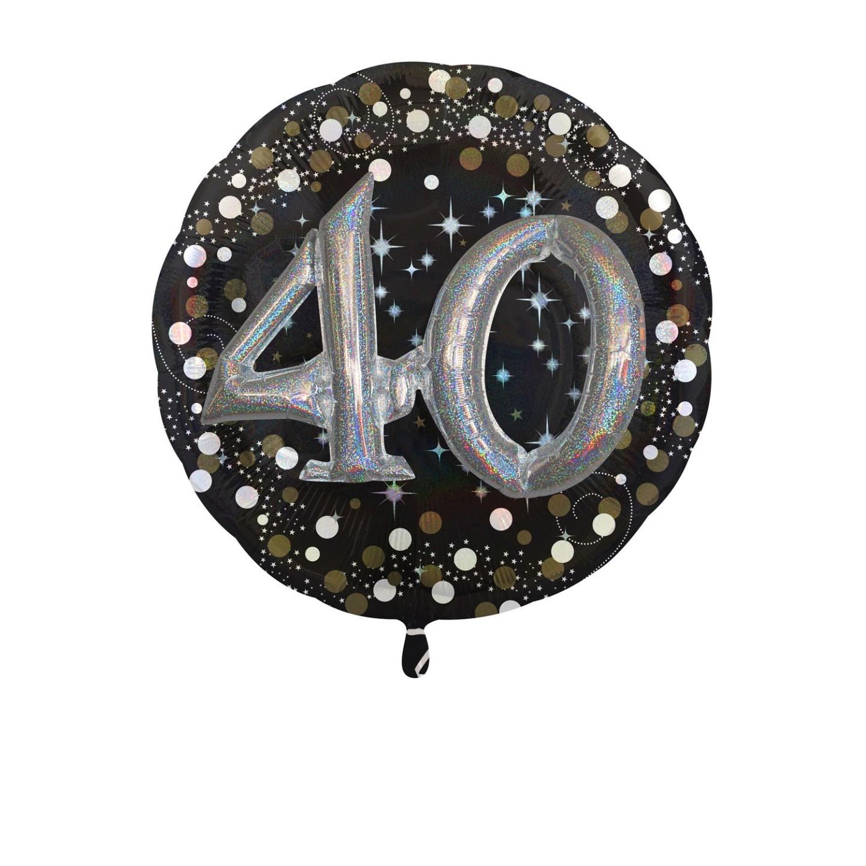 Folieballon multiballoon 3D sparkling 40 jaar