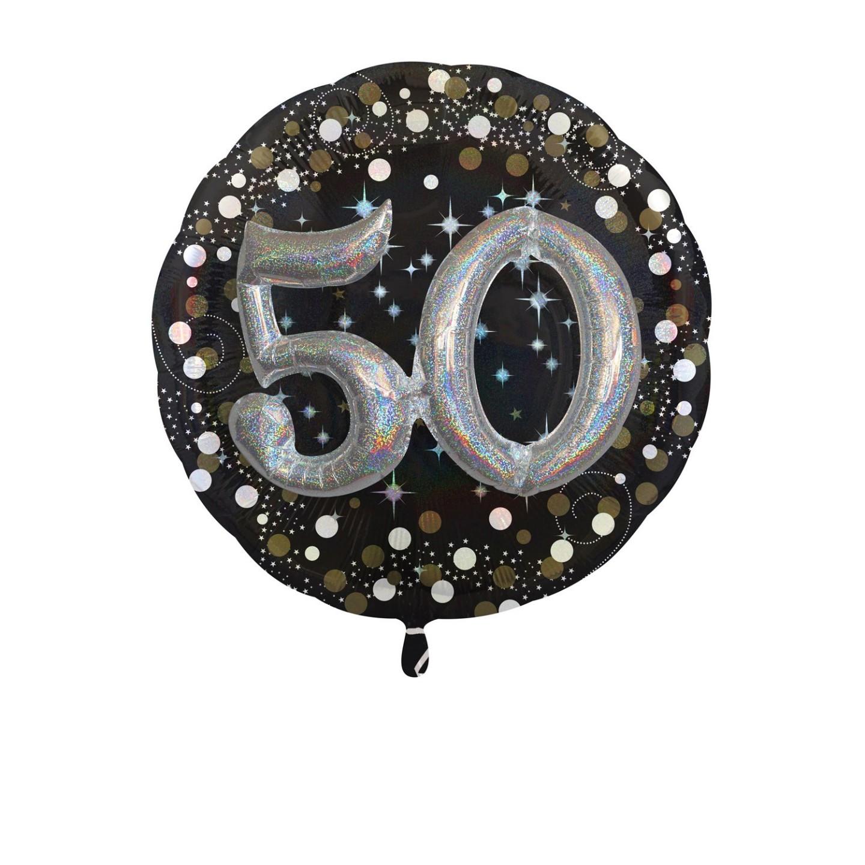 Folieballon multiballoon 3D sparkling 50 jaar