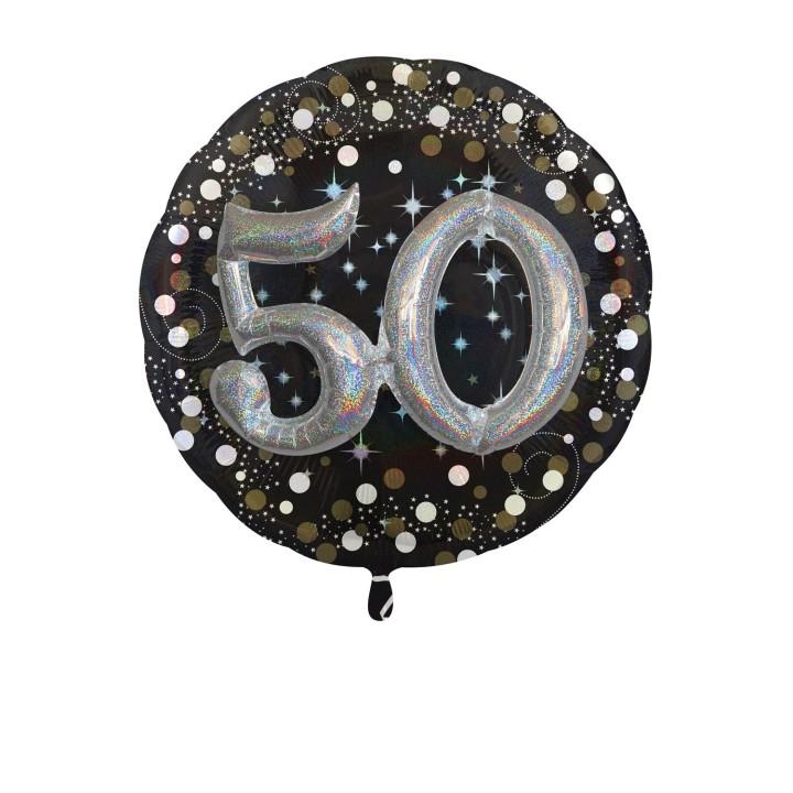 Folieballon Multi 3D 50 jaar 81x81cm