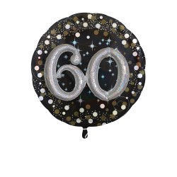 Folieballon Multi 3D 60 jaar 81x81cm
