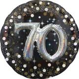 Folieballon multiballoon 3D sparkling 70 jaar
