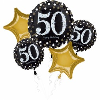 Folieballon Sparkling Boeket 50 jaar