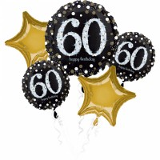 Folieballon boeket verjaardag sparkling 60 jaar