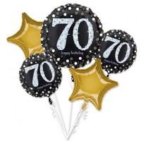 Folieballon Sparkling Boeket 70 jaar