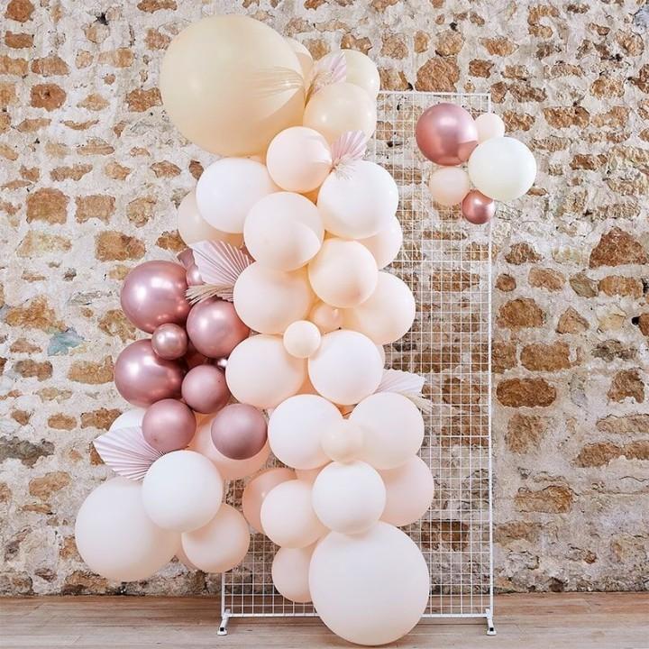 DIY ballonboog pampas wit-rose goud 70-dlg