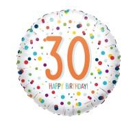 Folieballon Confetti 30 jaar HBDay 43cm