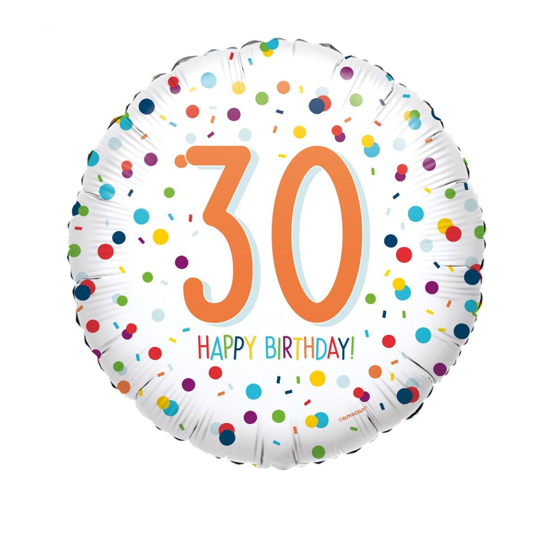 Folieballon verjaardag confetti 30 jaar