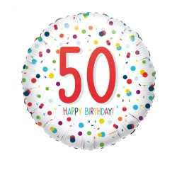 Folieballon Confetti 50 jaar HBDay 43cm