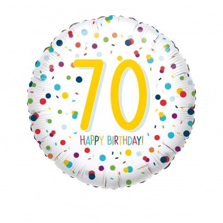 Folieballon verjaardag confetti 70 jaar