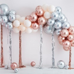 DIY ballonboog metallic mix + streamers 95st