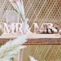 Rosegoud Mr en Mrs letters acryl 30cm