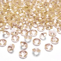 Tafelconfetti diamanten goud 12mm 100st