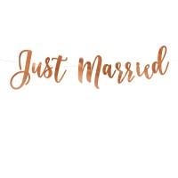 """Letterslinger """"Just Married"""" roségoud"""