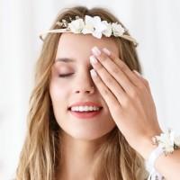 Bloemenkroon Wit verstelbaar