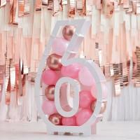 DIY Ballon mozaiek frame cijfer 6 - 81cm