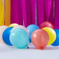 gekleurde ballonnen mix latex 12cm