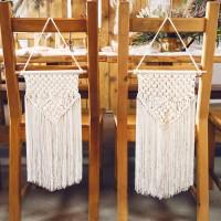 Bohemian Macrame decoratie wit 30x49cm