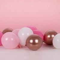 gekleurde ballonnen mix rose goud latex 12cm