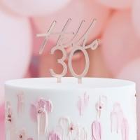 Taart topper verjaardag 30 jaar rose goud