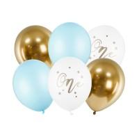 eerste verjaardag ballonnen one pastel blauw