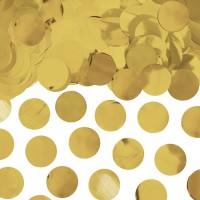 Ballon confetti XL metallic goud 250gr