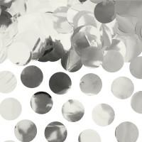 Ballon confetti XL metallic zilver 250gr