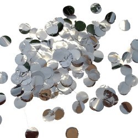 Ballon confetti metallic zilver 10mm 250gr