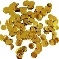 Ballon confetti metallic goud 10mm 250gr