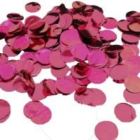 Ballon confetti metallic roze rond groot