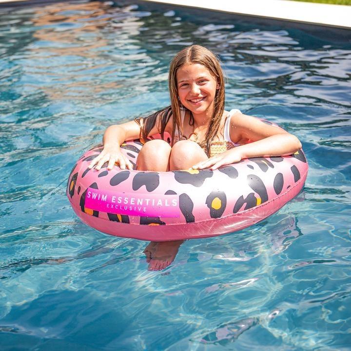 Zwemband Panter print rosegoud 90cm 6+