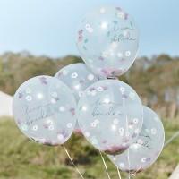 Confetti ballonnen Boho Team Bride 30cm 5st