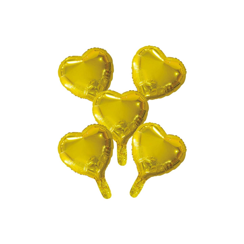 mini Folieballon klein goud hartje