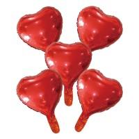 """Folieballon Minishape Hartvorm Rood 9"""" 5 st"""