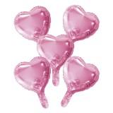 mini Folieballon klein roze hartje