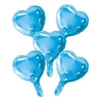 "Folieballon Minishape Hartvorm Blauw 9"" 5 st"