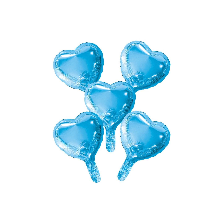mini Folieballon klein blauw hartje