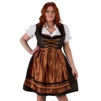 Dirndl jurk brons/zwart Jaquard grote maat