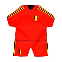 Mini Belgie voetbal tenue voor autoraam