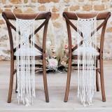 Bohemian Macrame stoel decoratie wit huwelijk