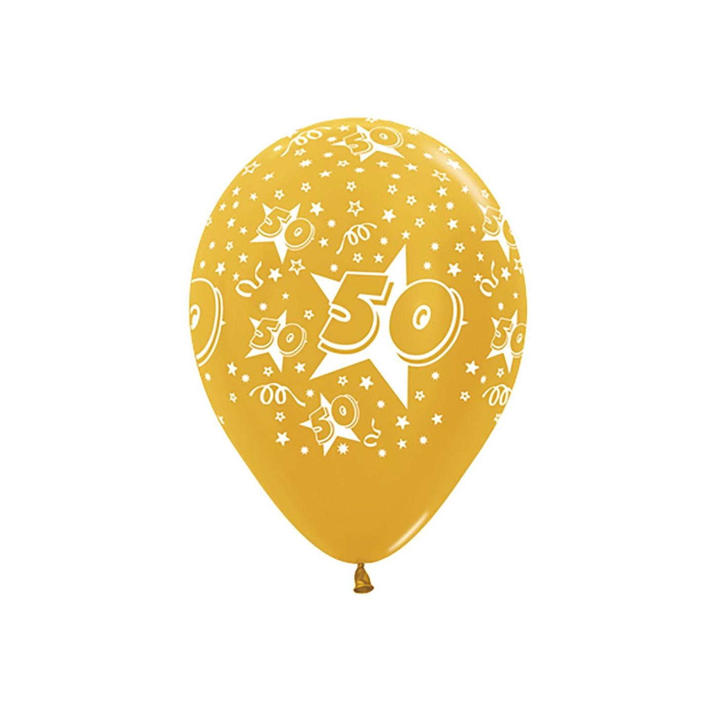 ballonnen 50 jaar gouden jubileum bruiloft