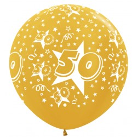 Ballon 50 Metallic Goud 90cm