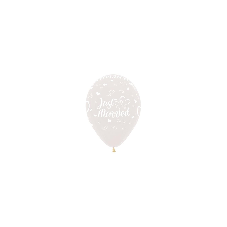 transparante ballonnen huwelijk just married bruiloft