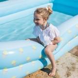 kinder zwembad rechthoekig blauw ijsjes print