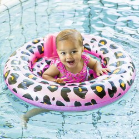 Baby zwemband Panter Print Rosegoud 0-1 jaar